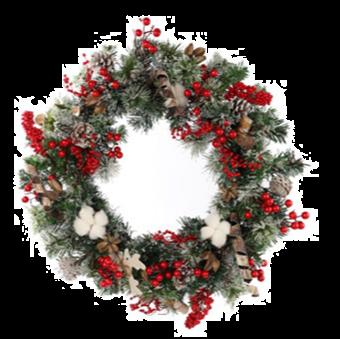 Jingles 50cm Christmas Wreath with Berries and Deer