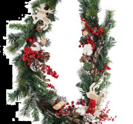 Jingles 180cm Garland with Berries and Deer