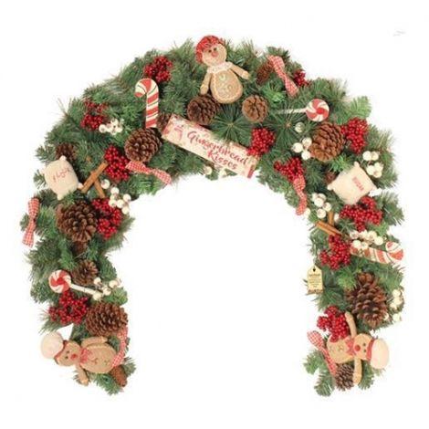Enchante Gingerbread 6ft Christmas Swag