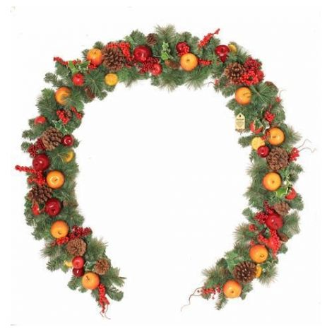 Enchante Winter Orchard Christmas Garland - 9ft