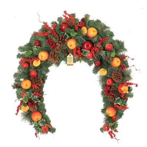 Enchante Winter Orchard Christmas Swag - 6ft