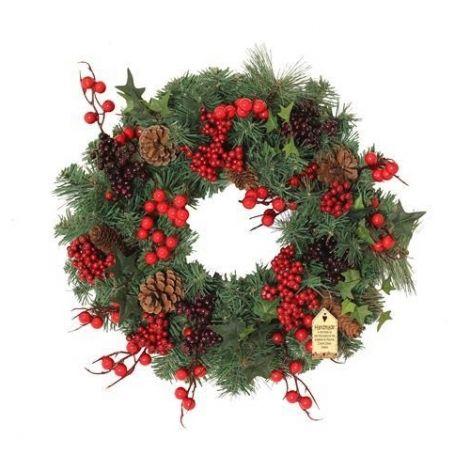 Enchante Christmas Woodland Berry Wreath 40cm