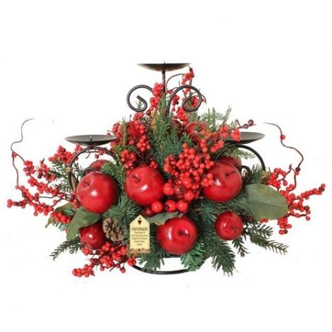 Enchante Luxury Apple Triple Tall Christmas Candle Stand