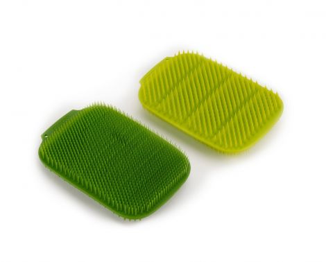 Jospeh Joseph CleanTech™ Washing-up Scrubbers 2Pk Green/Dark Green