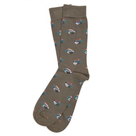 Barbour Fly Fish Sock - Olive
