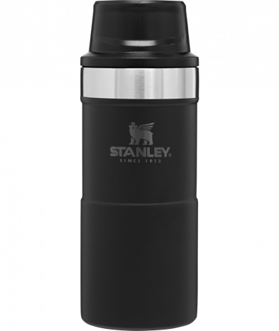 Stanley Trigger Action Travel Mug 12oz/.35Ltr Black