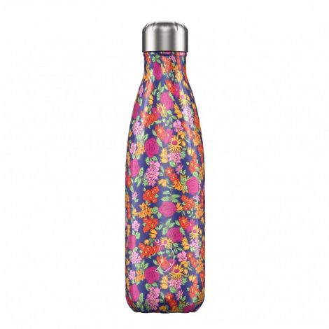 Chilly's Hot/Cold Water Bottle 500ml - Floral Wild Rose