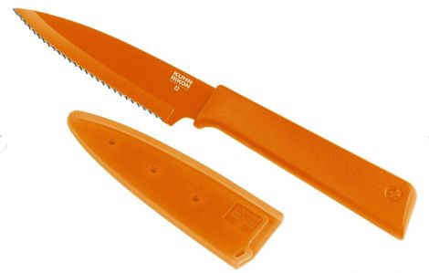 Kuhn Rikon Colori+ Serrated Paring Knife Orange