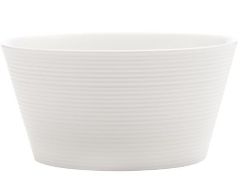 Casa Domani Casual White Evolve Conical Bowl 12.5