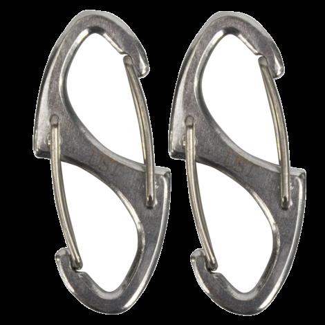UST Aluminium Double Carabiner - Black