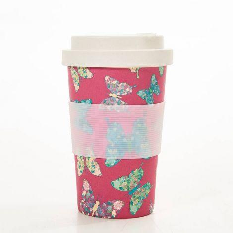 Eco Chic Fuchsia Butterfly Coffee Mug