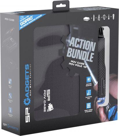 "SP Action Bundle - POV case and POV Pole 19"" for action cameras - Black"