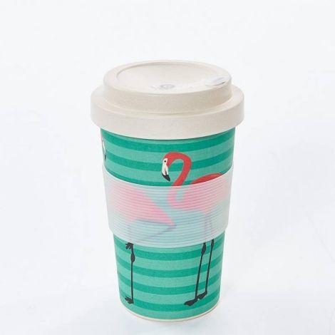 Eco Chic Green Flamingo Coffee Mug