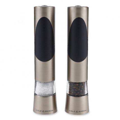 Cole & Mason Electronic Precision Richmond Brushed Steel Salt & Pepper Mill Gift Set