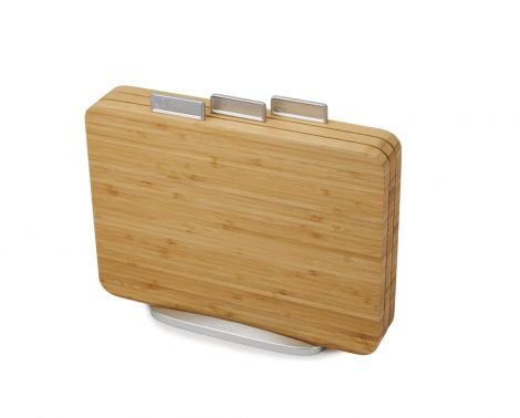 Joseph Joseph Index Bamboo Set Of 3 Food-Specific Chopping Boards With Storage Stand