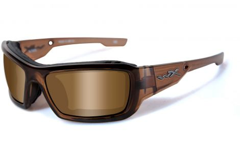 Wiley-X Climate Control Sunglasses - Knife Brown Crystal / Bronze Lens