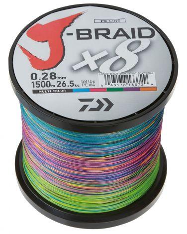 Daiwa J-Braid 150m - multicolour