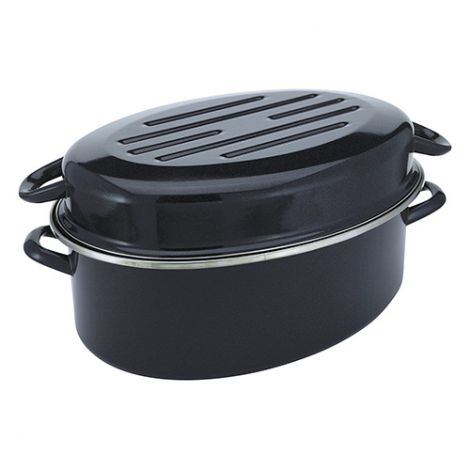 Judge Induction Granite 36 x 28 x 19cm High Oval Roasting Tin