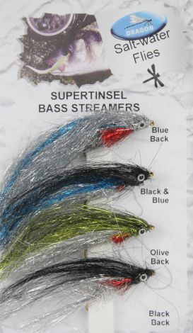 Dragon Supertinsel bass Streamer Flies