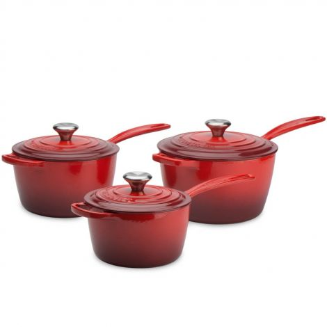 Le Creuset Signature Cast Iron 3 Piece Saucepan Set