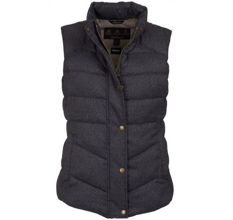 Barbour Meadow Gilet - Taupe Herringbone
