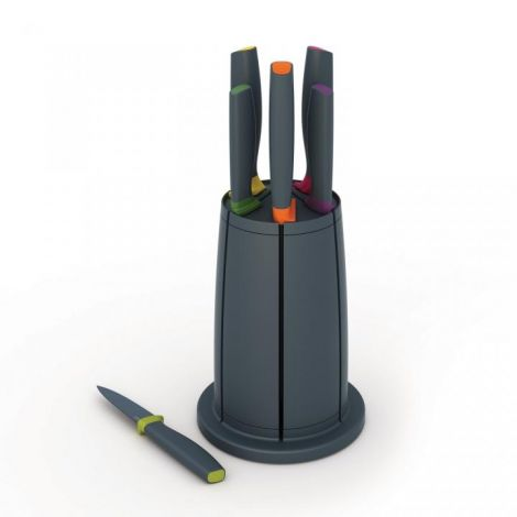 Joseph Joseph Elevate™ Knives Carousel Set 6-piece Knife Set with Rotating Knife Block