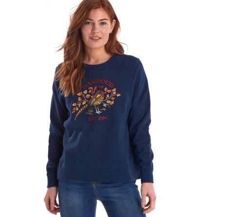 Barbour X Emma Bridgewater Eleanor Sweatshirt - Denim Marl