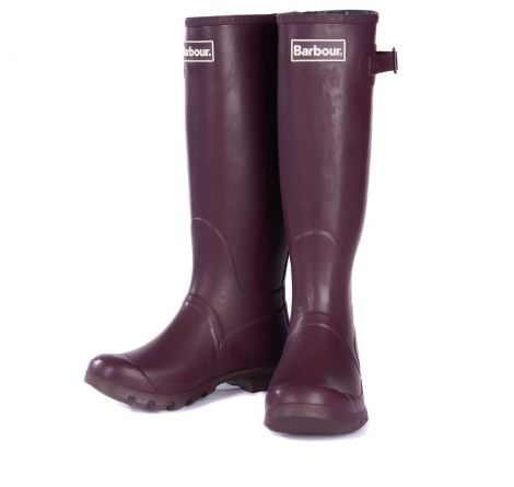 Barbour Ladies Bede Wellington Boots Aubergine