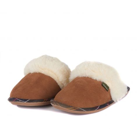 Barbour Lydia Mule Slippers Carmel