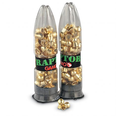 Gamo .22 Raptor Power Pellets - 20% MORE PUNCH Air Rifle Gun Supersonic PBA Gold Ammo