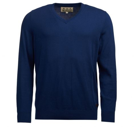Barbour Alfreton V-Neck Jumper - Blue