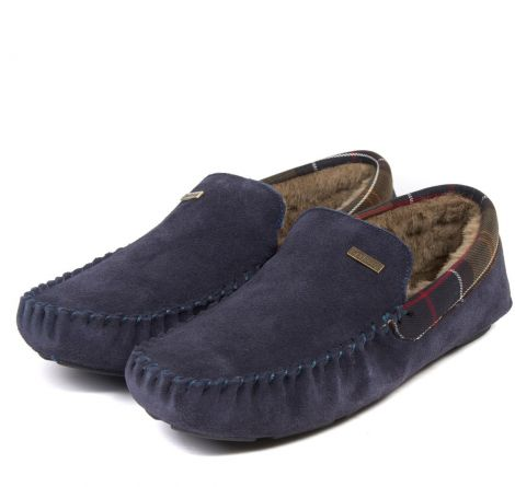 Barbour Monty Slippers - Navy