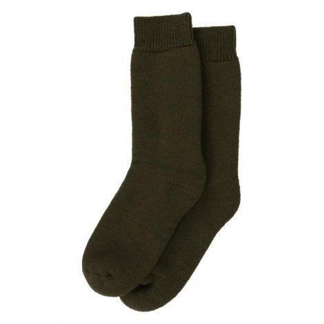 Barbour Wellington Calf Socks - Olive