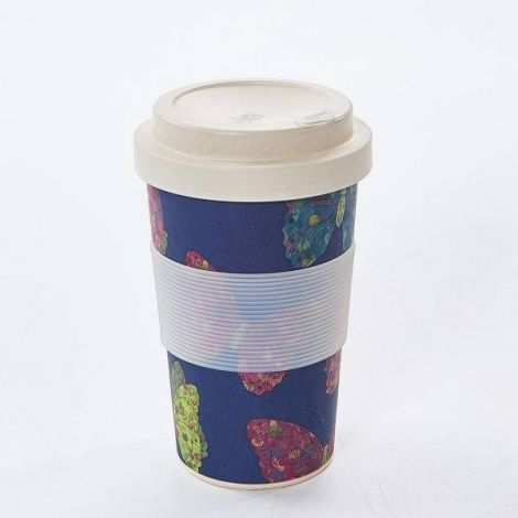 Eco Chic Navy Butterfly Coffee Mug