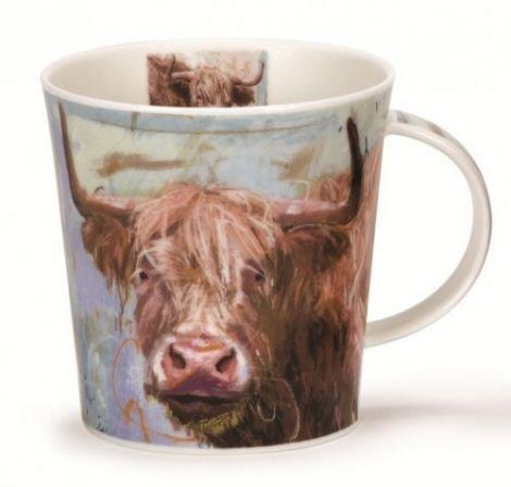 Dunoon Cairngorm Fine Bone China Mug - Animals on Canvas Highlandcow