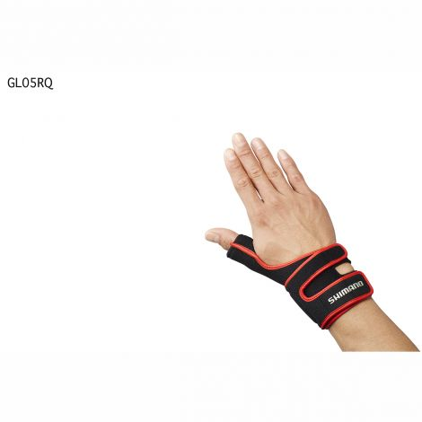 Shimano Wrist Support Glove (right) Red - One Size