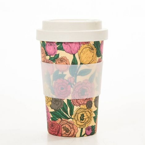 Eco Chic Peonies Coffee Mug