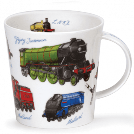 Dunoon Cairngorm Fine Bone China Mug - Classic Collection Trains