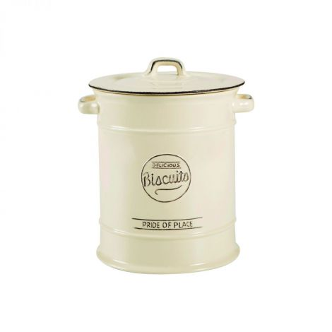 T&G Pride Of Place Large Biscuit Jar Old Cream