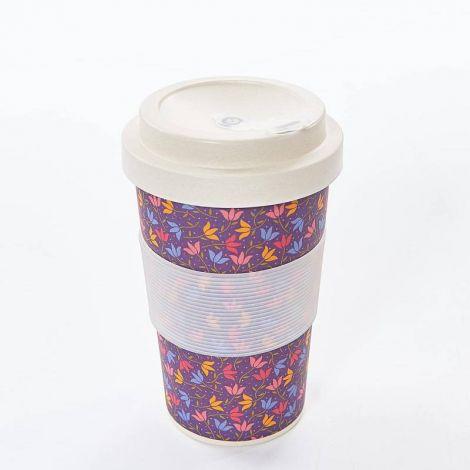 Eco Chic Purple Ditsy Doodle Coffee Mug