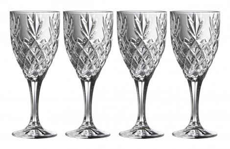 Belleek Galway Crystal Renmore Goblets (Set of 4)