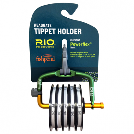 RIO / Headgate Tippet Holder & 5 spls Tippet