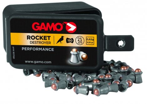 Gamo Rocket Destructor .22 (100) Pellets Airgun Air Rifle Pistol Ammo