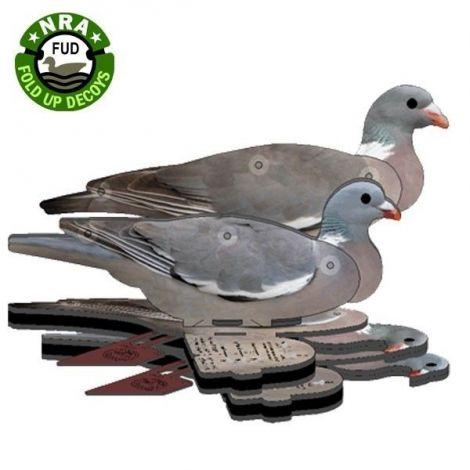 FUD NRA Wood Pigeon Decoy - Foldable, Portable, Shotproof Decoys