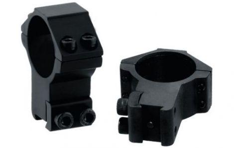 UTG AccuShot Picatinny/Weaver Medium Profile 2-piece 1-inch Rings - RGWM-25M4