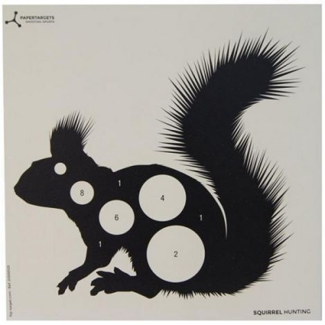 Flip Target 17cm Square Airgun Shooting Paper Animals Targets - Variation