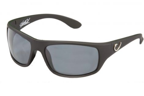 Mustad Black Vented Frame with Smoke Lens Sunglasses
