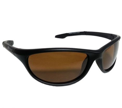 Wychwood Sunglasses Black Wrap Around Brown Lens