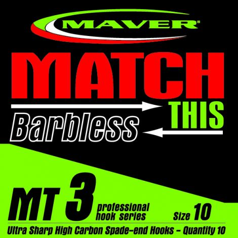 Maver Match This Hooks - MT 3 - Barbless