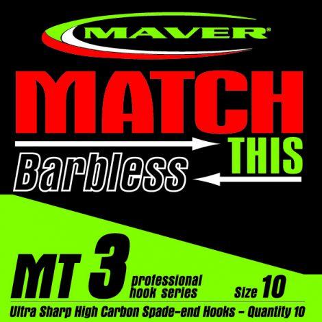 Maver Match This Hooks - MT 3 - Barbless